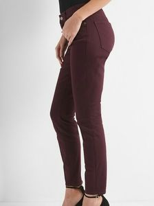 GAP Burgundy Curvy True Skinny Jeans